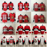 Nuovo 65 Erik Karlsson Jersey Ottawa Senators 41 Craig Anderson 95 Duchene 61 Mark Stone 68 Mike Hoffman 100 100 Classic Hockey cucita