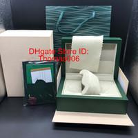 Fornitore di fabbrica Green Box Original Box Paper Gestoli regalo Scatole Borsa in pelle Scheda per 116610 116660 116710 116613 116500 Scatole di controllo