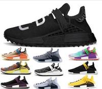 2019 Yeni Pharrell Williams insan ırkı NMD erkekler kadınlar Spor Siyah Beyaz Gri Nöromusküler primeknit PK koşucu XR1 R1 R2 Sneakers Ayakkabı Koşu