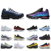 2019 Nike air max 95 Laser Fusssia chaussures OG Mens Womens Running Shoes colorato Nero Rosso Bianco Sport Trainer Superficie Sport all'aria aperta Sneakers 36-45
