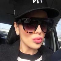 Gafas Fashion Damen Sonnenbrillen Markendesigner Luxus Vintage Sonnenbrillen Big Full Frame Eyewear Damen Brillen