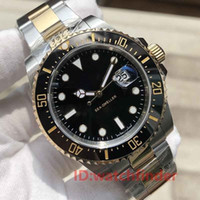Keramik Lünette 43mm Gold ROT SEA-DWELLER Stanless Steel Automatic Luxury Designer Herrenuhr Mann Armbanduhren Uhren 2019