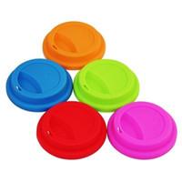 9cm Couvercle en silicone tasse de café de qualité alimentaire Creative Houseware gel de silice étanche à la poussière Couvercle en verre scellé