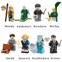 Harry Potter Moody Dumbledore Graves Queenie Jacob Voldemort Barebone Malfoy Mini Action Figure Modelo Building Block Toy Tijolo Para Crianças