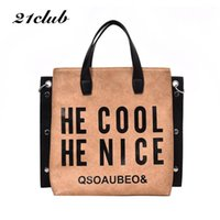 21club brand medium large capacity casual letter rivet ladie...