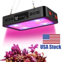 LED가 조명을 성장 1200W 타이밍 기능, 듀얼 실내 식물 성장, 온도계 습도 모니터를위한 전등 설비를 성장 전환