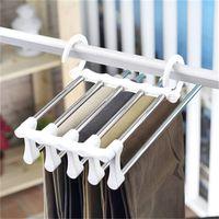Magia in acciaio inossidabile Pantaloni Rack Multi Function piegatura del gancio di cappotto e nero Whit appendiabiti esterno domestico facile da usare 5 5zb H1