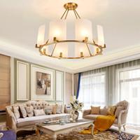 تصميم جديد النحاس الثريا الإضاءة لاعبا اساسيا الذهب الكلاسيكي الجولة الثريات أضواء المعيشة غرفة نوم غرفة الطعام غرفة بقيادة مصابيح قلادة