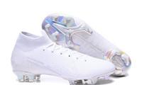 Новые Mercurial Superfly 7 Elite FG футбольные бутсы Nuovo White Pack Mercurial Superfly VII бутсы новые футбольные бутсы корабль с коробкой Big Boys