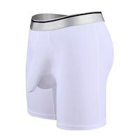 얼음 실크 롱 스타일 남자 큰 슈퍼 큰 크기 7xl 남자 남성 복서 Underwears 편안 색상 블루 화이트 1125 옵션 C19041801