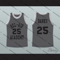 Der Prinz von Bel-Air Alfonso Ribeiro Carlton Banks Bel-Air Academy Grau Basketball Jersey-2