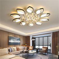 Nuovo soffitto salotto in stile illumina sala da pranzo della lampada di studio della lampada in bianco e nero lampadario llight lampada di cristallo pendente di alluminio