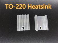 20pcs / lot 알루미늄 to-220 방열판 히트 싱크 트랜지스터 라디에이터 냉각기 냉각 20 * 15 * 10m