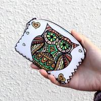 Geldbörse Leinwand Cartoon Eule Brieftasche Hasp Clutch Handy HandtascheGeldbeutel Vintage Geldbörse Schlüsselhalter Weihnachtsgeschenk