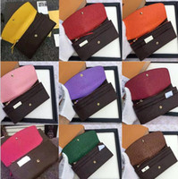 Free Shpping Wholesale Women' s Long Wallet Multicolor D...