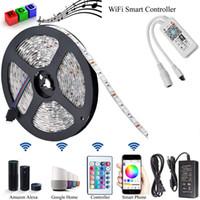 السحر الرئيسية البسيطة RGB LED واي فاي بلوتوث مجموعات قطاع المراقب للضوء LED قطاع مراقبة الهاتف الذكي