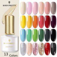 BORN PRETTY 4PCS Gel-Nagellack-Set reiner Nagellack Glitter Pailletten Soak Off Gel Lack Maniküre Base Top Coat Kit