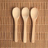 Madeira Jam Colher do bebê mel Colher de café Colher New Kitchen delicado Usando Condimento Pequeno 12,8 * 3 centímetros RRA2837-8