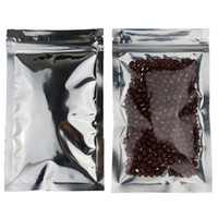 200 adet, 8.5 * 14 cm Saydam kaplama alüminyum kilitli çanta-Fermuar ön açık aluminizing folyo plastik kese ile temizle, kuru elma çantası