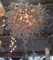 100% vetro soffiato a bocca Bianco borosilicato lampadario della decorazione della casa di stile di Chihuly economico di Murano Pendant Light Glass