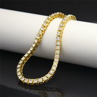 Pulsera de tenis de diamante de oro Joyas para hombres Pulseras Collar con hielo Hip Hop Jewelry Bangles Joyería de moda Will y Sandy