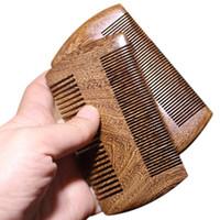 Green Sandalwood Pocket Beard Hair Combs 2 Размеры Handmade Натуральный Деревянный Расческа 1 шт. Бесплатная доставка LX9316