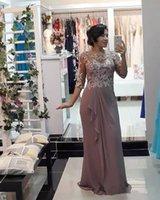 Simple 2020 Halbhülse Mutter der Brautkleider mit weißer Spitze Applique Geruch Chiffon Elegante Mutter Abend Formale Kleider plus Größe