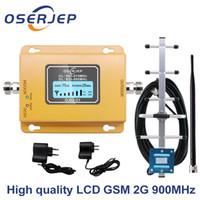 display LCD GSM 900Mhz UMTS 2G / 3Gcelular señal del teléfono móvil del repetidor de refuerzo, 900MHz amplificador + Yagi / Omni Antena T200608