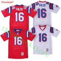 # 16 Shane Falco Jersey Película The Replacements Red White Jerseys Guardados por la campana cosida película Fútbol Jersey S-3XL