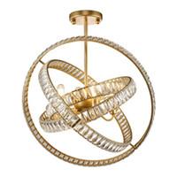 luces de plata oro lámpara de acero inoxidable de cristal LED de la lámpara de múltiples anillo dormitorio iluminación viviendo