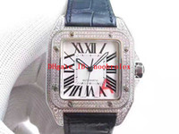 V6 Top 41mm Mens Watch suisse 2824 Mouvement automatique 28800 SPV 316L place boîtier en acier lunette sertie de diamants saphir 50M Résistant à l'eau