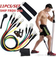 ABD Stok, 11 adet / takım Çekme Halat Lateks Spor Egzersizleri Direnç Bantları Elastik Egzersizler Vücut Spor Gücü Direnç Bantları FY7007