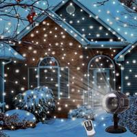 Natale nevicata proiettore Lampada Telecomando LED Proiettore Light Snowflake Fiocco di neve impermeabile Giardino rotante Prato per arredamento all'aperto