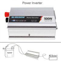 Freeshipping 500W DC 12V 24V zu 220V 110V Fahrzeug-Wechselrichter USB Adapter tragbarer Spannungswandler-Autoladegerät Surge Power 1000W