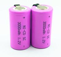 18pcs VTC5 25R SC Batterie 3000mah 1.2V de haute qualité Ni-CD batterie SUB C SC 22420 avec une rallonge transformée dans les outils batterie