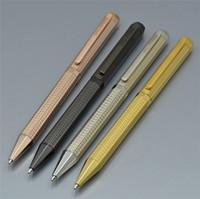 4 цвета роскошные уникальные металлические квадратные бочки шариковые ручки канцтовары офисный бизнес поставщик лучший качество вращающийся тип писать подарочные ручки