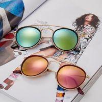 Beliebte marke runde designer sonnenbrille für männer und frauen outdoor sport glas linsen sonnenbrille sonnenbrille sonnenbrille frauen brille 11 farben