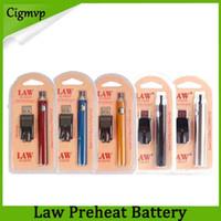Law preriscaldamento batteria kit di caricabatterie USB 1100mAh o Penna Bud touch batteria a tensione variabile per CE3 G2 G5 TH205 MT6 cartucce DHL 0266177-1