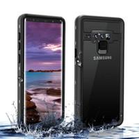 حافظة حماية كاملة مغلقة بالكامل تحت الماء تغطي لهواتف سامسونج جالاكسي S10 S9 S8 بلس نوت 8 9 IP68 غطاء مقاوم للماء