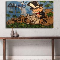 Sitting On The Money Graffiti Canvas Painting Print Bedroom ...