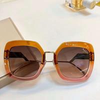 TROPICAL SHINE 0,317 / S 브라운 음영 / 라이트 브라운 음영 선글라스 스퀘어 안경 여성 패션 상자 새로운 선글라스