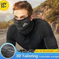 Доставка DHL Ice Шелковый Солнцезащитный маска лето мужской Велоспорт Маски Многофункциональный Открытый Спорт Dust Proof ветрозащитный платок FY4048