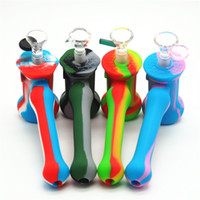 Usine gros Hot Silicone Marteau Bubbler percolateur barboteur pipe à eau matrice fumer pipes tabac pipe bongs pomme de douche silicone bong