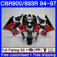 Комплект для HONDA CBR900RR CBR 893RR Stock red hot 1994 1995 1996 1997 кузов 260HM.25 CBR 893 CBR900 RR CBR893 RR CBR893RR 94 95 96 97 обтекатель