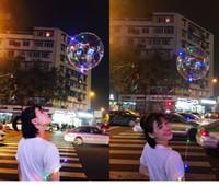 Led partido hincha accesorios de decoración transparente de la onda que brilla intensamente de color orbes de aire de la linterna Baloon Star Light Wave Bolas valentines day regalos
