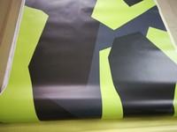 pixel noir gris jaune styl Camoufalge pellicule de vinyle pour l'emballage de voiture couvrant Camo camion Wrap couvrant autocollant feuille auto adhésif 1.52x30m 5x98ft
