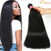 Gaga Продукты Королева Brazillian волос Straight Плетение 4шт Dyeable Virgin Brazillian прямые волосы 100% Необработанные человеческих волос Soft
