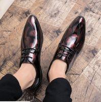Plus Size 37-48 Men Brogue Mode Oxford Chaussures Homme Robe Tenue soignée Gentleman Handcrafted Chaussures pour hommes modernes