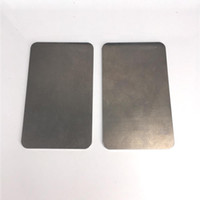 Aluminium sur mesure 3 x 5 pouces Colophane Plaque de refroidissement Colophane Collection Huile de cire rectangle Extraction de la plaque à froid vape ecig Accessoire