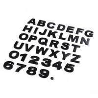 3D-Metall-Emblem-Auto-Aufkleber 37pcs / set Schreiben Digital-Zahl H 2,5 cm Chrom-DIY Auto-Styling-Abzeichen Logo Automobil-Motorräder Aufkleber